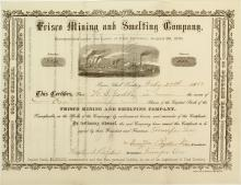 Frisco Mining & Smelting Company Stock Certificate (Ghost Town, Territorial)