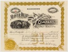 Mercur Deep Mining & Milling Company Stock Certificate