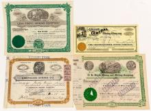 Four Other Tintic, Utah Mining Stock Certificates
