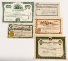Five Other Different Utah Mining Stock Certificates