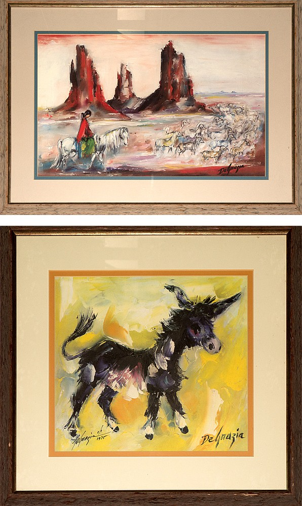 Western Artwork Pair- Prints of Ettore DeGrazia Paintings