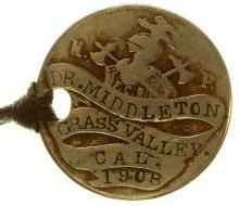 Dr. Middleton Knights of Pythias Token (Grass Valley, California)