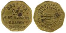 Second McCarger's-Strahle Saloon Token (Nord, California)