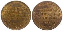 Joseph Brothers Store Card Token (Gold Rush Jeweler) (San Francisco, California)