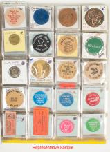 Tokens from 80 Different Towns from California