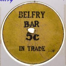 Belfry Bar Token (Belfry, Montana)