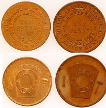 Two Dillon Fraternal Tokens