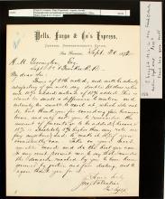 Jonathon Valentine letter to HM Yerington of the V&T