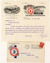 Pictorial--Staver Carriage Co. Cover and Letter