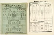 Two Original Virginia & Truckee Railrway Schedules.