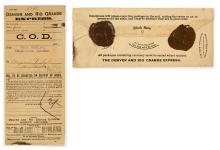 Adams Express / Denver & Rio Grande Express Envelope with Wax Seals
