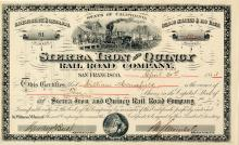 Sierra Iron & Quincy Rail Road Company (The railroad that was Never There)