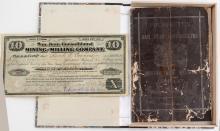 Ultra Rare San Juan Consolidated Mining Prospectus and Stock Certificate