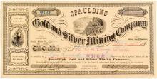 Spaulding Gold & Silver Mining Co. Stock Certificate