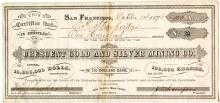 Crescent Gold & Silver Mining Company Stock Certificate