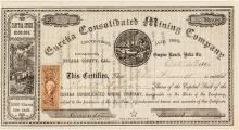 Eureka Consolidated Mining Company Stock Certificate