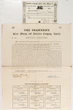 Two Colorado Mining Stock Certificates