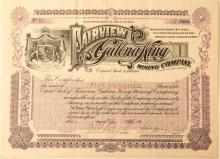 Fairview Galena King Mining Company Stock Certificate
