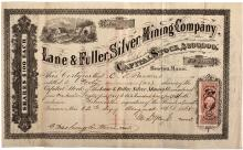 Lane & Fuller Silver Mining Stock Certificate