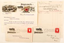 Covers & Letters from Mitchell & Lewis Co.