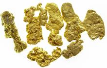 San Gabriel River Gold Nuggets