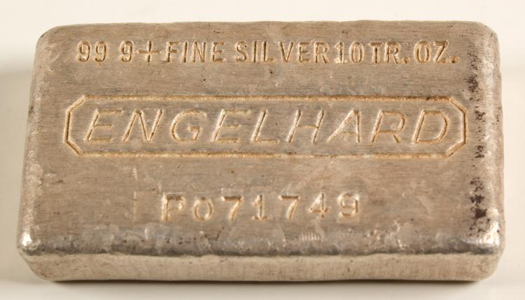 Engelhard 10 Troy Ounce Silver Bar