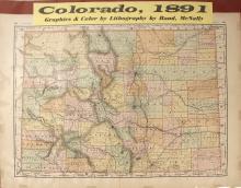 1891 Map of Colorado