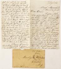 Unique Cover and Letter from Civil War Soldier Mining on Weekends
