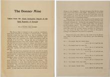 Bonner Mine Report by W. S. Yeates