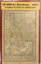 1883 Map of Idaho by Hardesty