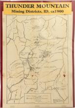 Map of Thunder Mountain Mining Districts, Idaho