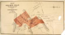 c.1865 Map of the Golden Rule & Adjacent Mines, Eureka District, Nevada