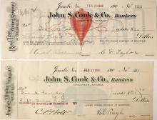 Two Iconic Goldfield, Nevada Mining Checks