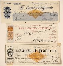 Three Virginia City Revenue Checks: Railroad, Mining, & Water