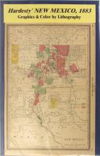 1883 Map of New Mexico