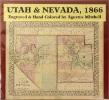 Map of Utah & Nevada, 1866