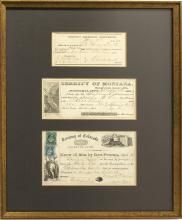 3 Different Gold Rush Framed Documents
