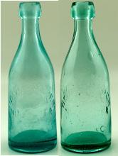 Two Varieties of the New Almaden Soda Bottles