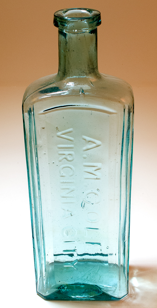 Cole Aqua Patent Medicine Style Drug Bottle