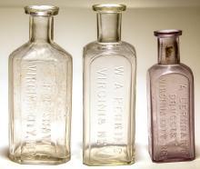 Three Virginia City Bottles