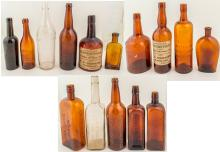 15 Beer and Whiskey Bottles