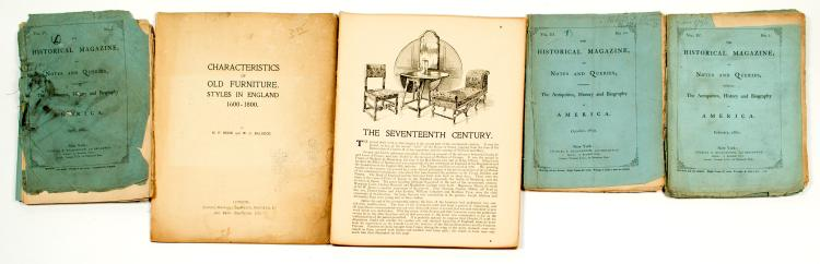 Illustrated English Furniture Guide & Historical Magazines on America