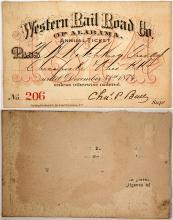 Western Rail Road Co. of Alabama Pass, 1874