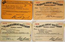 Four Alabama Railroad Passes