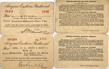 Arizona Eastern Railroad Passes (1920 & 1924)