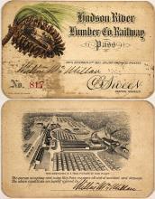 Hudson River Lumber Co. Railway Pass, 1901, Pictorial