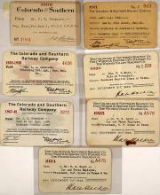 Colorado & Southern Railway Co. Pass Collection