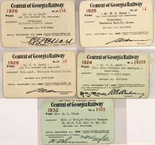 Central of Georgia Railway Passes