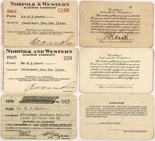 Three Norfolk Railroad Passes