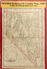 Nevada Railroad & County Map, 1881